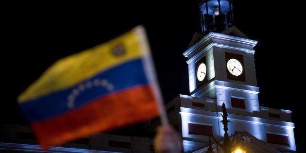 Manifestación a favor de Guaidó en