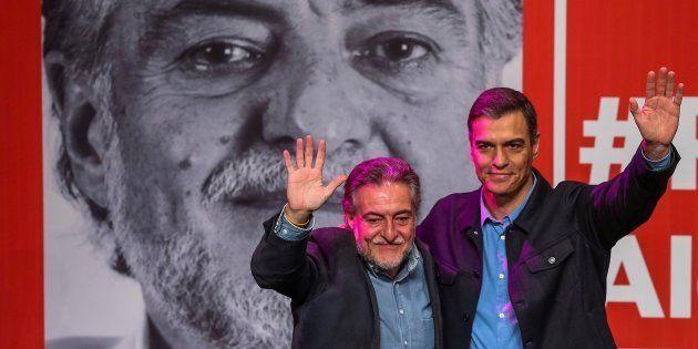 Pedro Sánchez presenta la precandidatura de Pepu Hernández a las primarias del PSOE para ser el candidato...