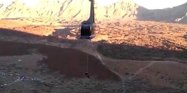 Susto en el Teide: 34 personas quedan atrapadas en el teleférico por una