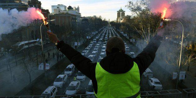 Huelga de taxis en