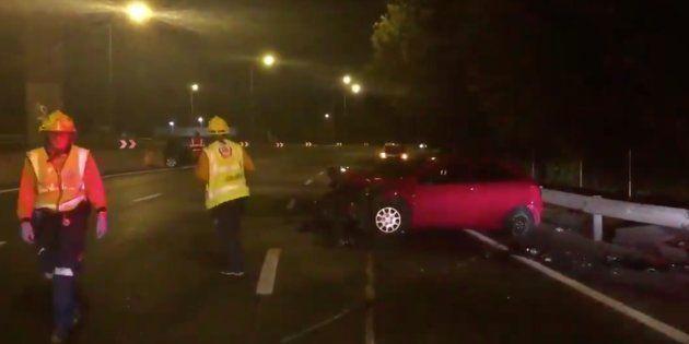 Un conductor kamikaze provoca el pánico en la M-30 de Madrid y deja ocho