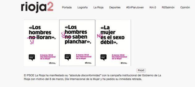 Polémica por el cartel del Gobierno de La Rioja para el Día de la