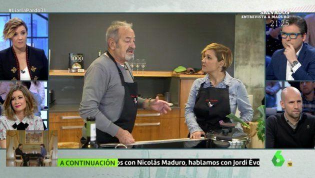 Karlos Arguiñano, entrevistado en el programa de este