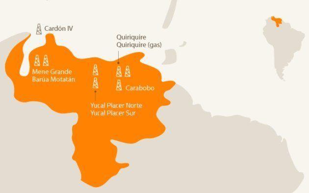 Mapa actividad de Repsol en