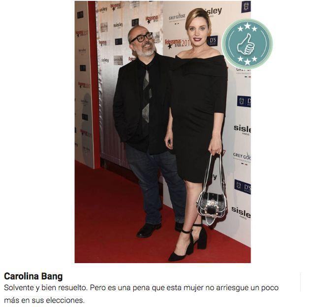 Aplauso unánime a Carolina Bang tras su monumental 'hachazo' tras una crítica a su vestido en los
