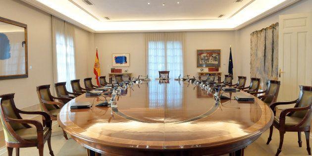 Mesa de reunión del Consejo de Ministros en el Palacio de La