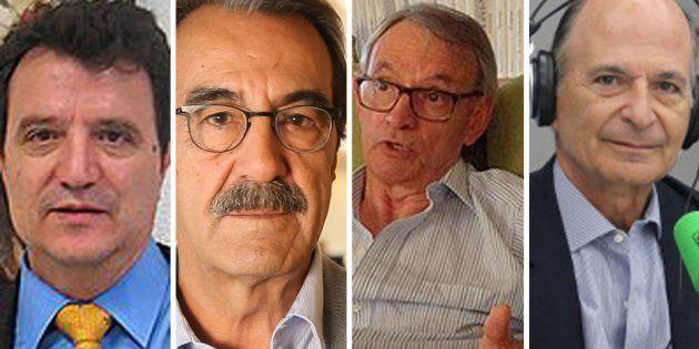 De izq. a dcha: Santos Ruesga, Emilio Ontiveros, Anton Costas y Carlos R.