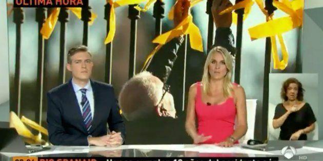 Por qué las noticias de Antena 3 han mostrado lazos amarillos cuando informaban del atentado en