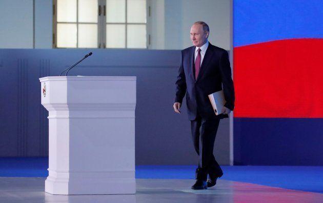 Putin llega para pronunciar su discurso anual sobre el estado de la