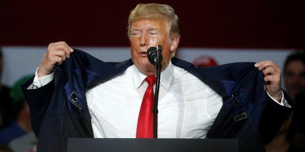 Trump, durante un acto este mes de