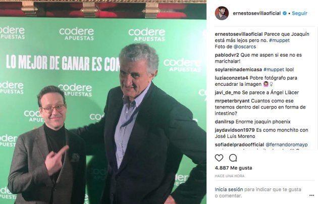 Ernesto Sevilla trolea a Joaquín Reyes por una foto y desata el