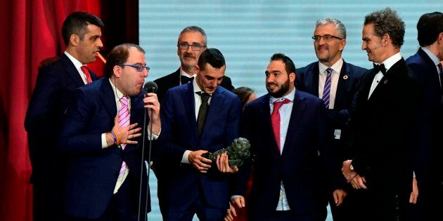 José de Luna, uno de los protagonistas de 'Campeones' agradece el premio Goya a la Mejor