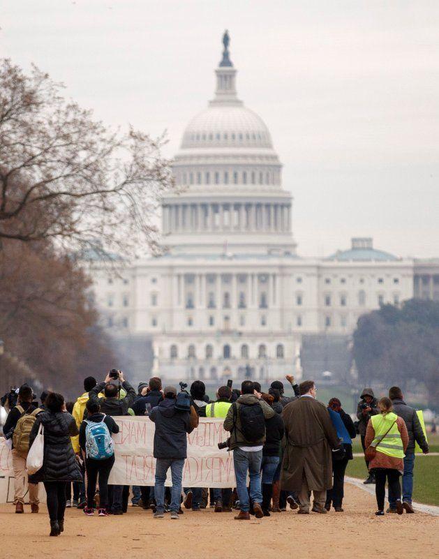 Los 'dreamers', frente al Congreso de