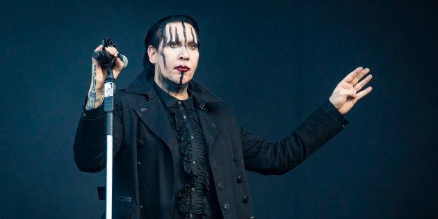 Actuación de Marilyn Manson en el Festival de Heavy de Monteral, el 28 de julio de