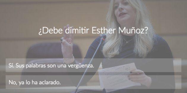 Encuesta: ¿Debe dimitir Esther