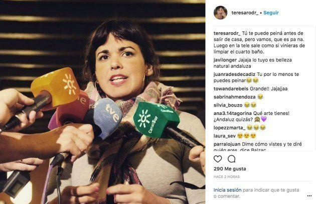 La amarga queja de Teresa Rodríguez tras verse en la
