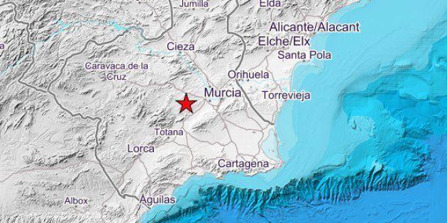 Un terremoto de magnitud 4,1 sacude Murcia, Alicante y