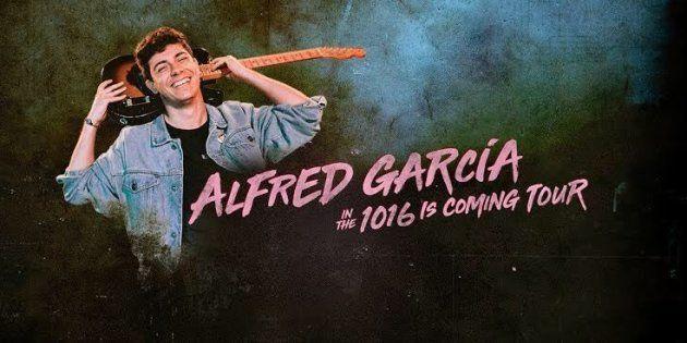 Cartel de la gira '1016 is coming tour' de Alfred García, exconcursante de Operación