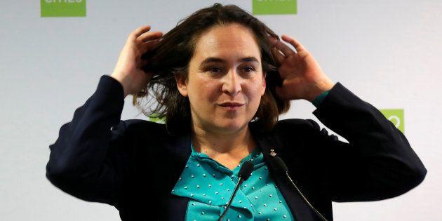 Ada Colau, en un encuentro de ciudades por el clima celebrado en París el año