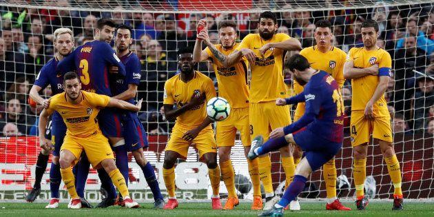 El Barça derrota al Atlético (1-0) y deja casi sentenciada la
