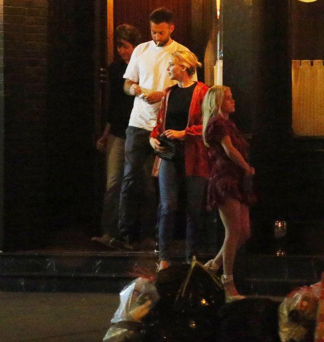 Maroney y Lawrence en su primera aparición pública el 11 de junio de