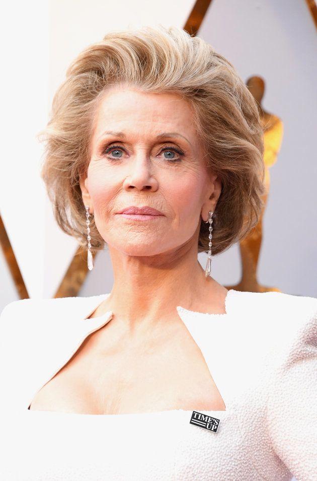 Jane Fonda en la alfombra roja de la 90ª edición de los Premios