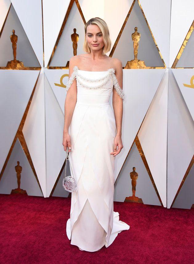 Margot Robbie, en la alfombra roja de los Oscar