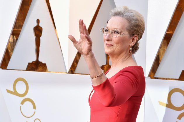 Meryl Streep, en la alfombra roja de los Oscar