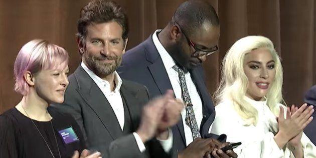 Lady Gaga, en la comida de nominados a los