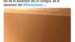 Un senador publica en Twitter una pintada contra Pedro Sánchez aparecida en el ascensor del