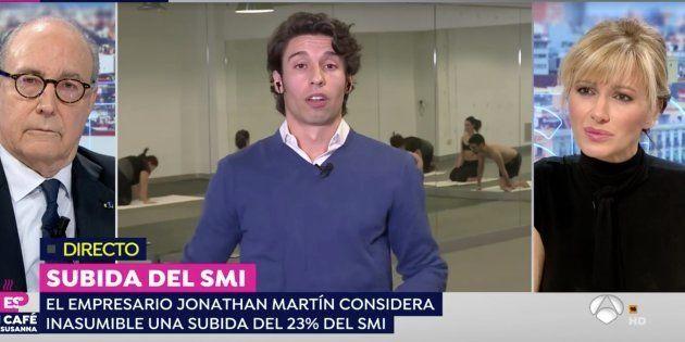 Entrevista al dueño de una empresa de yoga en 'Espejo Público' (Antena