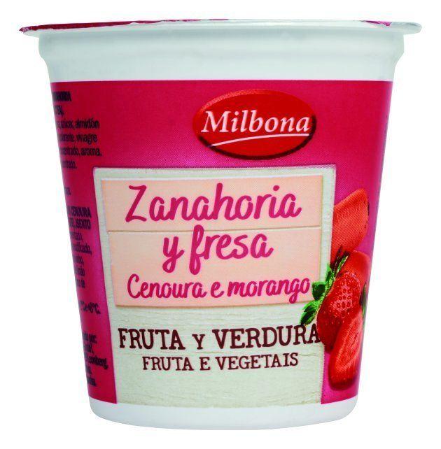 Yogur de fresa y zanahoria de