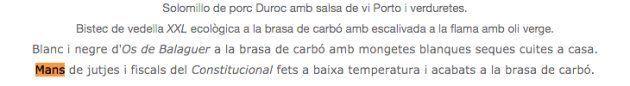 Un restaurante de Lleida ofrece en su carta