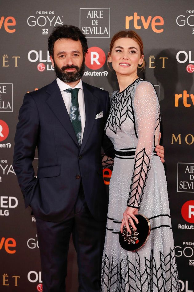 Marta Nieto y Rodrigo Sorogoyen en la gala de los Goya 2018, cuando 'Madre' ganó como Mejor