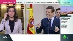 La cara de Inés Arrimadas tras lo que se escuchó en 'Más Vale Tarde'