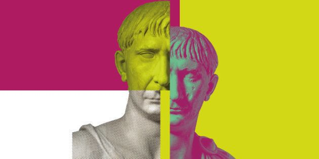 Cartel de la exposición 'Traiano. Costruire l'Impero, creare l'Europa' (Museo di Traiano Museo dei Fori...