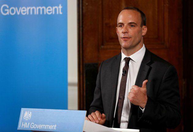 El ministro para la salida británica del bloque comunitario, Dominic