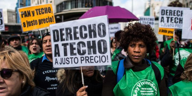 Manifestación por una vivienda digna en