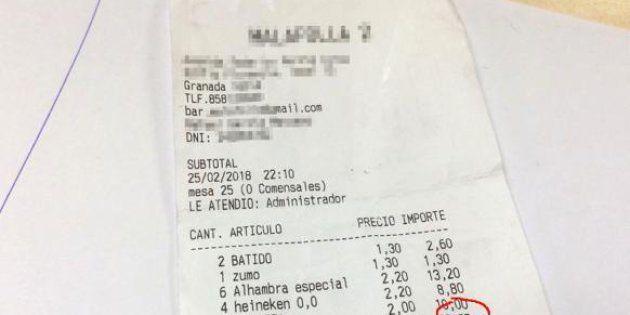 La broma de un restaurante de Granada a una familia que
