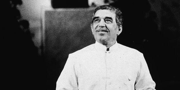 Gabriel García Márquez, tras recibir el Nobel de Literatura en