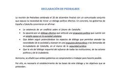 Este es el documento de la oferta del Gobierno a la Generalitat de