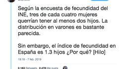 El hilo de Twitter que le muestra a Pablo Casado por qué realmente no nacen más niños en