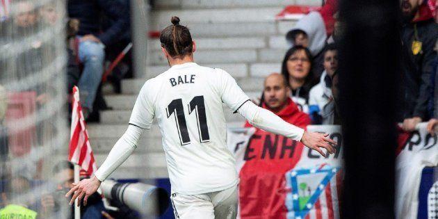 Celebración de Gareth Bale ante el Atlético de
