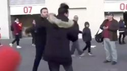 Vergonzosa agresión a dos aficionados del Madrid a la salida del Wanda