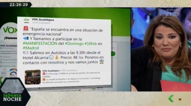 María Claver en 'LaSexta