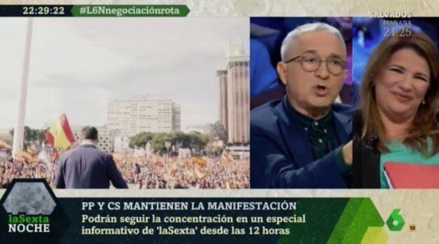 María Claver y Xavier Sardá en 'LaSexta