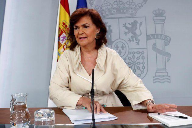 La vicepresidenta del Gobierno, Carmen Calvo, este