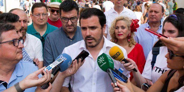 El tuit de agradecimiento de Alberto Garzón tras el intento de agresión que sufrió en