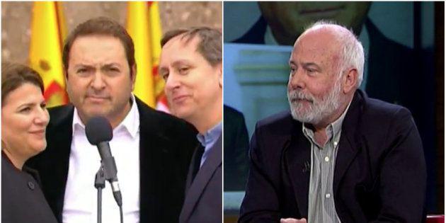 Los periodistas María Claver, Albert Castillón y Carlos Cuesta. A la derecha, Ramón