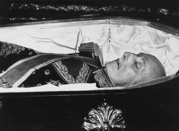 El cadáver de Franco, el 20 de noviembre de